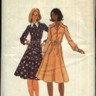 Retro Butterick Sewing Pattern 5733 Misses Size 14 Long Sleeve Front Button Flared Skirt Dress