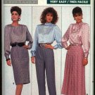 Butterick Sewing Pattern 5758 Misses Size 10 Easy Straight Pleated Yoke Skirts Tapered Pants