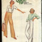Butterick Sewing Pattern 5884 Misses' Size 8 Drawstring Zipper Front Long Pants