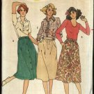 Butterick Sewing Pattern 5935 Misses Size 12 Button Front Gathered Dirndl A-line Skirts