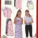 Butterick Sewing Pattern 6038 Girls Size 12-16  Easy Wardrobe Shirt Camisole Skirt Cropped Pants