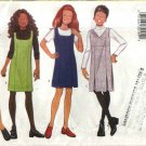 Butterick Sewing Pattern 6233 Girls Size 7-10 Easy Straight Flared Pleated Jumper