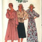 Retro Butterick Sewing Pattern 6360 B6360 Misses Size 10 Long Short Dress Top Skirt Dolman Sleeves
