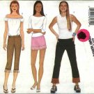 Butterick Sewing Pattern 6570 Misses Size 18-22 Easy Low Rise Long Cropped Pants Skirts