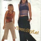 Butterick Sewing Pattern 6602 B6602 Juniors' Size 9/10-13/14 Pants Shorts Halter Sleeveless Top