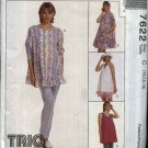 McCall's Sewing Pattern 7622 Misses Size 10-14 Maternity Pullover Dress Top Shorts Leggings