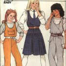Butterick Sewing Pattern 6800 Girls Size 12-14 Easy Pullover Dropped Waist Jumper Overalls