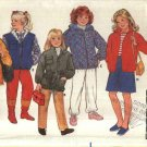 Butterick Sewing Pattern 6804 Girls' Size 7-10 Classic Zipper Snap Front Jacket Vest Hood