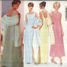 Butterick Sewing Pattern 4823 Misses Size 6-10 Easy Classic Formal Evening Long Dress Stole