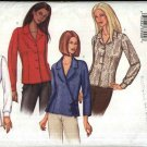 Butterick Sewing Pattern 3256 Misses Size 8-12 Easy Button Wrap Front Blouse Shirt Top