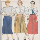Butterick Sewing Pattern 6960 B6960 Misses Size 8 Classic Pleated Skirts Button-on Pockets