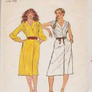 Butterick Sewing Pattern 6962 Misses Size 10 Front Wrap Dress Sleeveless Long Sleeve
