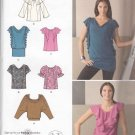 Simplicity Sewing Pattern 2554 Misses Size 14-22 Pullover Knit Woven Top Sleeve Neckline Options