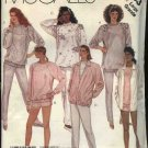 McCall's Sewing Pattern 3233 Misses Size 6-8 Knit Work Out Wear Jacket Top Pants Shorts