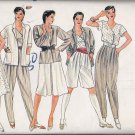 Vogue Sewing Pattern 8246 Misses Size 12 Wardrobe Jacket Skirt Pants Shorts Top