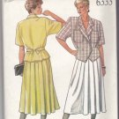New Look Sewing Pattern 6333  Misses Size 8-18 Double Breasted Top Pleated Skirt Suit