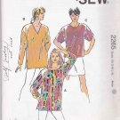 Kwik Sew Sewing Pattern 2265 Misses Size XS-XL (approx. 6-22) Pullover Tops Tunics