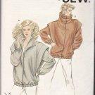 Kwik Sew Sewing Pattern 1342 Misses Size XS-L Snap Zipper Front Oversized Jackets