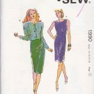 Kwik Sew Sewing Pattern 1990 Misses Size 12-18 Sleeveless Princess Seam Sheath Dress Jacket