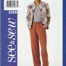 Butterick Sewing Pattern 3359 B3359 Misses Size 18-22 Easy Zipper Front Fleece Jacket Pants