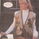 Butterick Sewing Pattern 5289 166 Misses Size 8-22 Cat Appliqued Quilted Vest Shirley Stevenson