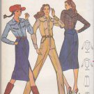 Vintage Butterick Sewing Pattern 6691 Misses Size 10 Western Style Shirt Skirt Pants Cowgirl Clothes