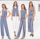 Butterick Sewing Pattern 6941 Misses Size 20-24 Easy Summer Wardrobe Vest Shorts Pants Skirt