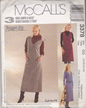 McCall's Sewing Pattern 3378 Misses Size 18-24 Woman's Day Collection Dress Jumper