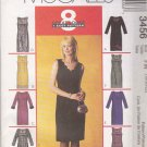 McCall's Sewing Pattern 3456 Misses Size 18-22 Easy Classic Straight Dress Neck Sleeve Options
