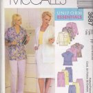 McCall's Sewing Pattern 3687 Misses Size 16-22 Scrub Medical Uniforms Lab Jacket Top Pants Skirt