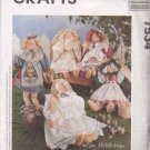 "McCall's Sewing Pattern 7534 711 Soft Sculpture Heirloom Bunnies 20"" Tall Clothes Bunny Doll"