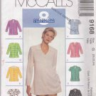 McCall's Sewing Pattern 9168 Misses Size 20-24  Easy Blouses Shirts Tops Sleeve Neck Options