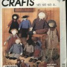 McCall's Sewing Pattern 2869 M2869 Crafts 3 Sizes  Folk Dolls Clothes  Dress Pants Bloomers Bonnet