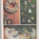 Butterick Sewing Pattern 4013 Victorian Christmas Designs Embroidery Wreath Ornaments Tree Skirt