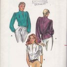 Butterick Sewing Pattern 3295 Misses Size 8 Button Front Long Short Sleeve Blouse Top Funnel Neck