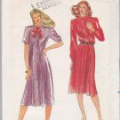 Butterick Sewing Pattern 3323 B3323 Misses Size 6 Button Front Loose-Fitting Tucked Dress
