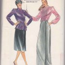Butterick Sewing Pattern 3326 Misses Size 8 Evan-Picone Suit Jacket Blouse Wrap Front Skirt
