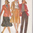 Butterick Sewing Pattern 3381 Misses Size 8 Bagatelle Lined Jacket Bias Skirt Pants Suit