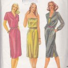 Butterick Sewing Pattern 3417 Misses Size 8 Easy Pullover Dress Button Front Bodice Strapless