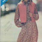 Butterick Sewing Pattern 3536 Misses Size 8-12 Pullover Long Sleeve Dress Lined Vest