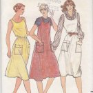 Butterick Sewing Pattern 3616 Misses Size 8 Easy Pullover Jumper Dress Optional Elastic Waistline