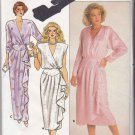 Butterick Sewing Pattern 3678 Misses Size 8 Formal Short Long Wrap Dress Front Drape Sleeve Options
