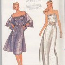 Butterick Sewing Pattern 3737 Misses Size 6-10 Easy Sleeveless Summer Long Short Dress Shawl