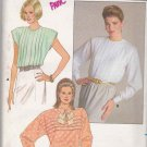Butterick Sewing Pattern 3767 Misses Size 8-12 Back Button Front Tucked Blouse Sleeve Options