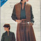 Butterick Sewing Pattern 3827 Misses Size 8-12 Long Sleeve Flared Skirt Dress Vest
