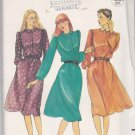 Butterick Sewing Pattern 3935 Misses Size 8 Long Sleeve Flared Skirt Dress Collar Options