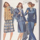 Butterick Sewing Pattern 3977 B3977 Misses Size 8 Suit Lined Jacket A-Line Pleated Skirt Pants Shawl