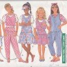 Butterick Sewing Pattern 3984 Girls Size 7-8-10 Classic Jumper Jumpsuit Short Sleeve T-Shirt