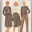 Butterick Sewing Pattern 4015 Misses Size 10 Suit Lined Jacket Skirt Blouse Straight Leg Pants