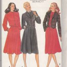 Butterick Sewing Pattern 4050 Misses Size 6-10 Long Sleeve Dress Lined Button Front Jacket Vest